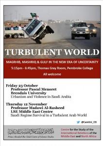 Turbulent World Poster Michaelmas 2015