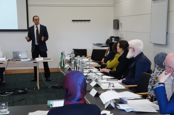 <p>Dr Philip Lodge addresses the attendees</p>