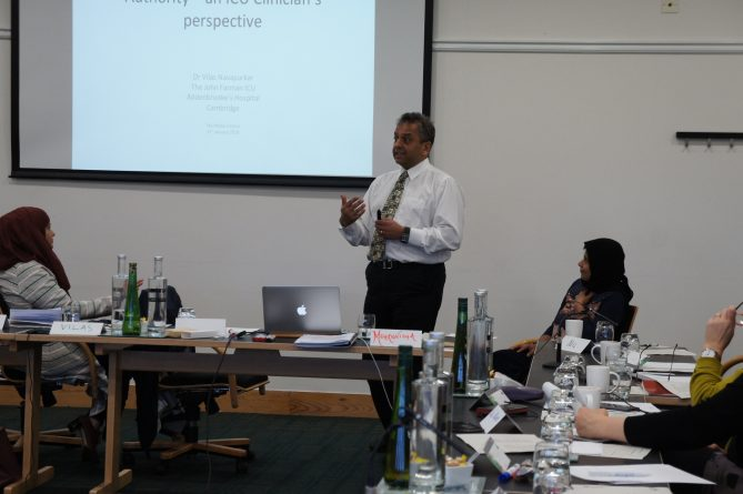 <p>Dr Vilas Navapurkar talking about the ITU Consultant's view on end-of-life issues</p>