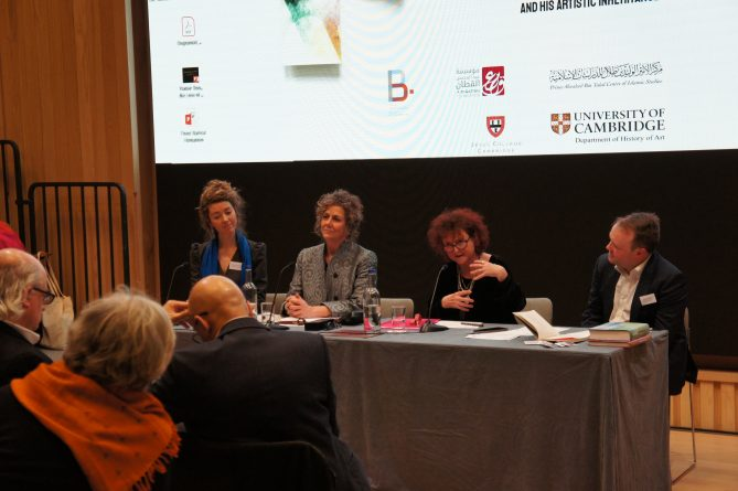 <p>The Symposium - one of the panels</p>