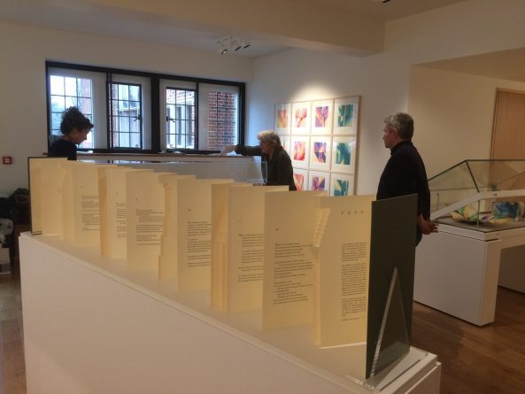<p>The beautfiul gallery space in the West Court of Jesus College where the exhibition was held</p>